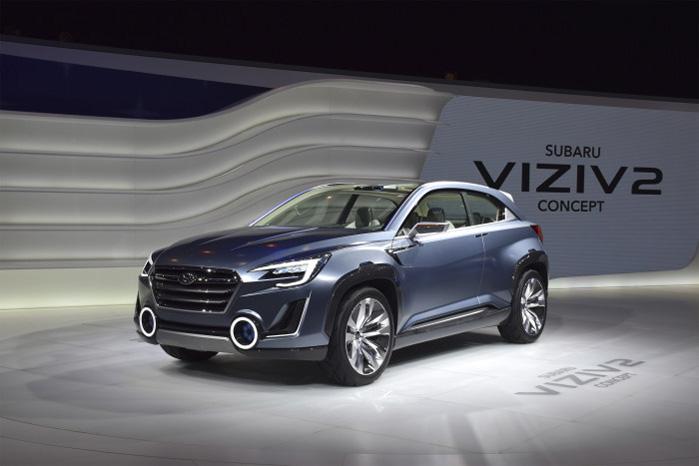 Subaru har lånt og tænkt sig til nye linjer, så de kan slippe for den evindelige kritik af designet. Måske har de overtaget de oplyste kanonmundinger fra Skoda Yeti