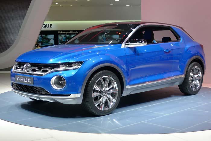 Sådan ser VW's frække SUV-koncept T-Roc ud i virkeligheden. Tæt på de tidligere viste skitser af den nye SUV, der er baseret på Volkswagens MQB-platform. Se mere her: https://altomvarebiler.dk/vw-rokker-videre-med-t-roc/