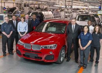 BMW X4 er nu i produktion på Spartanburg-fabrikken, som også skal producere den kommende topmodel X7.