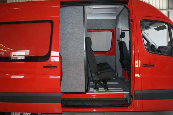 En indretning med plads til ekstra sæder, men også med optimal bevarelse af varerummets kapacitet.