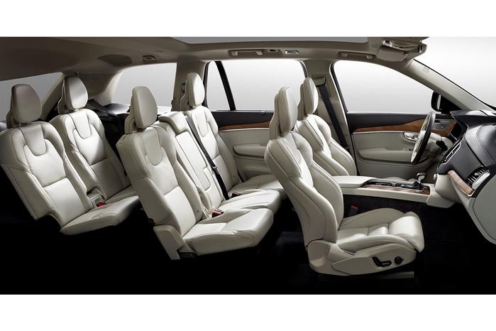 Volvo XC90 får helt nye sæder. Læg mærke til, hvor tynde de er blevet for at give bedre plads til tre sæderækker