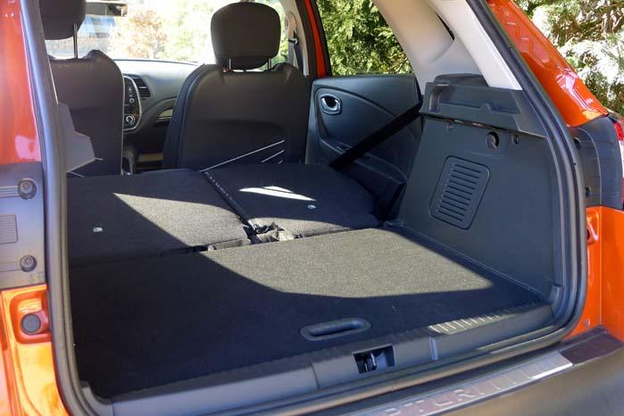 Her er det personbilen, men det giver en fornemmelse af, hvordan Captur vil være indrettet med varerum og helt fladt gulv.