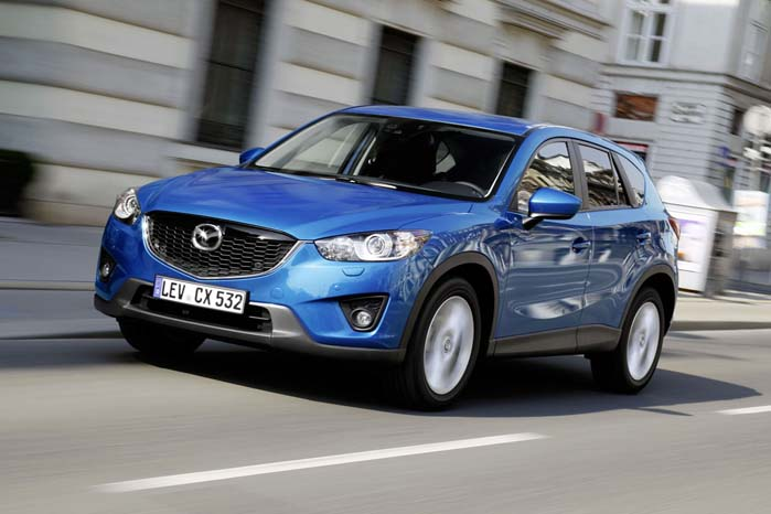 Mazda CX5 er den hidtil tredjemest solgte SUV blandt varebilerne i år.