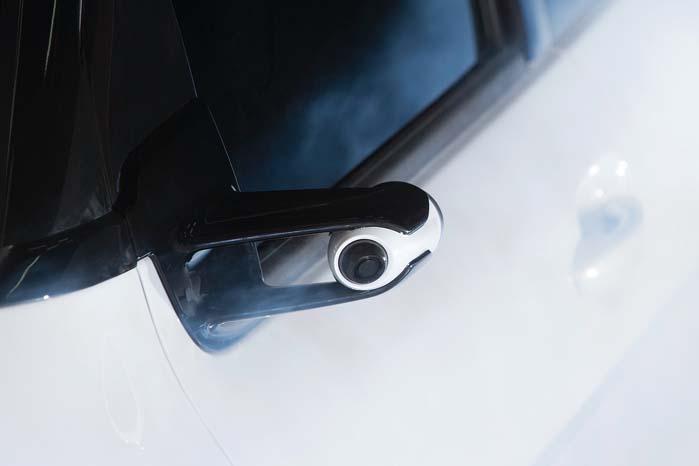 I stedet for store sidespejle er Cactus Airflow udstyret med små og strømningsgunstige kameraer.