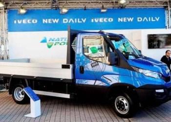 Iveco Daily ladvogn med CNG-teknologi på udstilling i Torino.