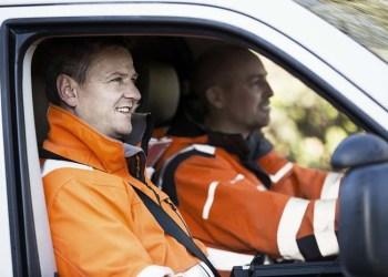 En ud af fem erhvervsbilister har været - eller været tæt på at blive - involveret i et trafikuheld- eller ulykke. (Foto: Rådet for Større Trafik)