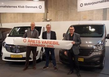 Årets Varebil 2015 blev et joint venture mellem Opel Vivaro og Renault Trafic, som har siddet på titlen lige siden