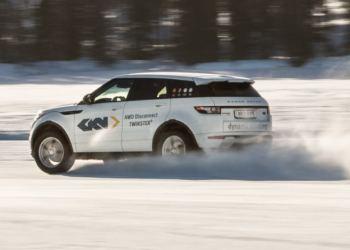 Range Rover Evoque vintertestet med ny transmissionsteknologi fra GKN.