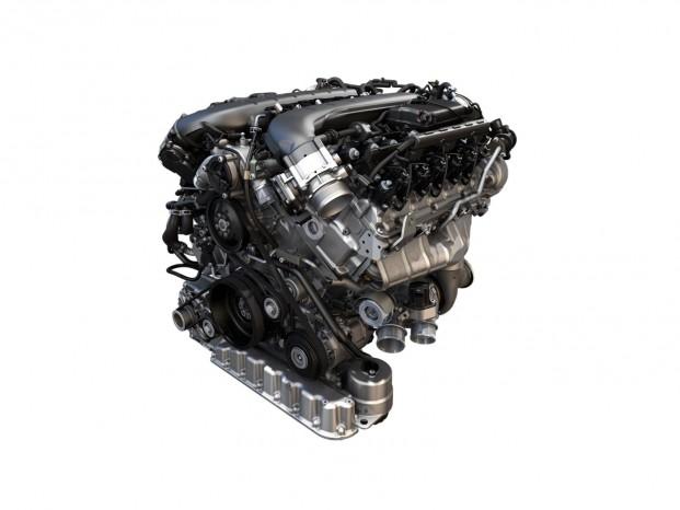 Motoren er en 6-liters W12-motor med 608 hk og 900 Nm