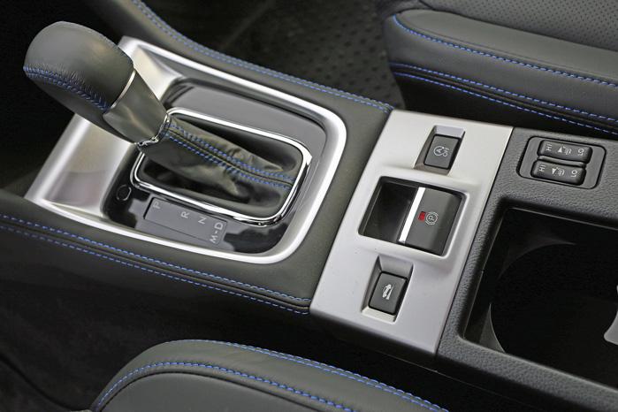 Lineartronic-gearkassen er standard. I Europa har Subaru indlagt seks indprogrammerede trin i milliongearet for at tækkes europæiske kunder