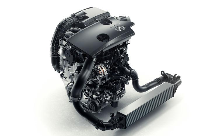 Den ser ikke ud af meget, men de første oplysninger indikerer, at Infiniti har begået en blanding af en Mazda SkyActiv 2.0 og en Renault 5 Turbo. Sådan lidt populært udtrykt