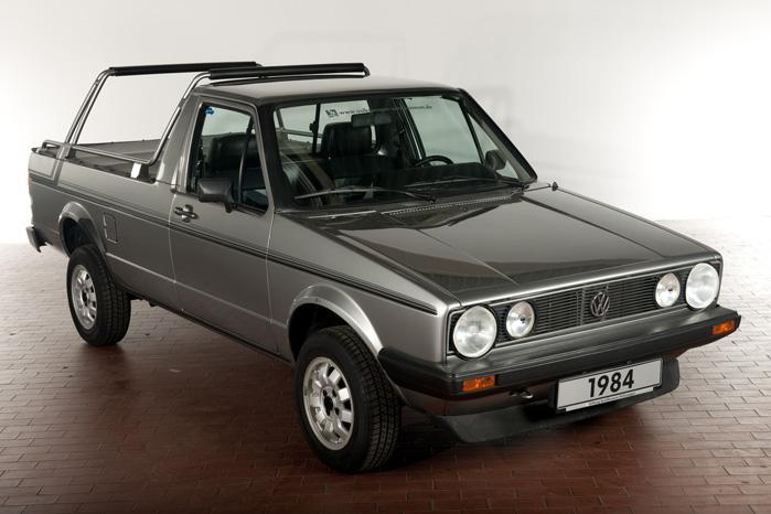 Sådan så det ud i 1981, da VW Golf blev skåret op til pickuppen Golf Caddy