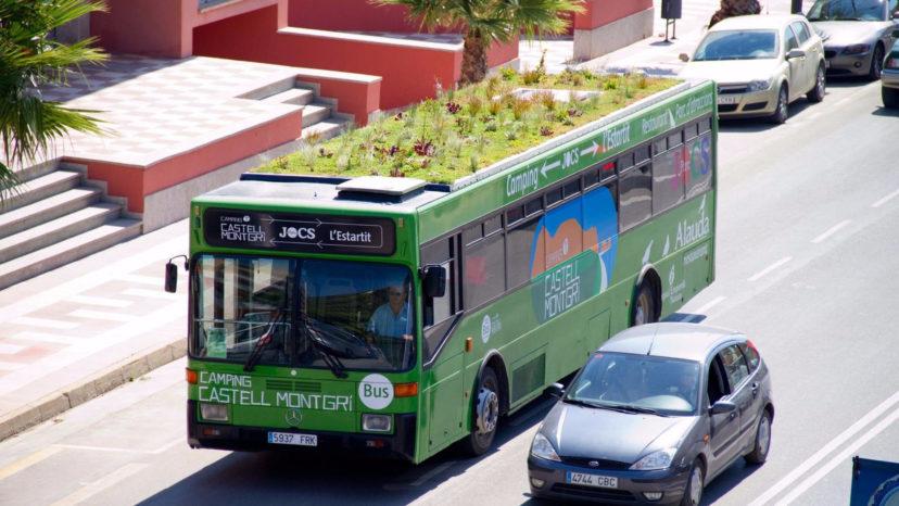 I oldtidens Babylon hang haverne - i dag er de på taget af busser. I hvert fald i Madrid.