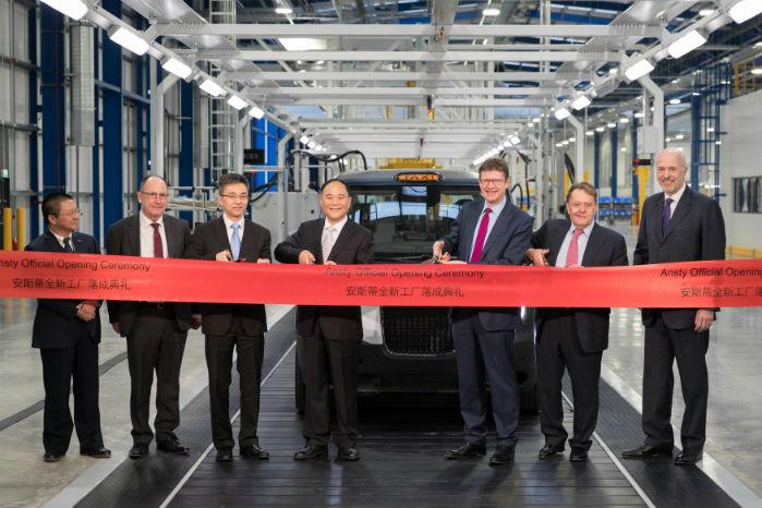 Geely's og London Taxi Company's nye fabrik i Ansty, Coventry, blev åbnet den 22. marts