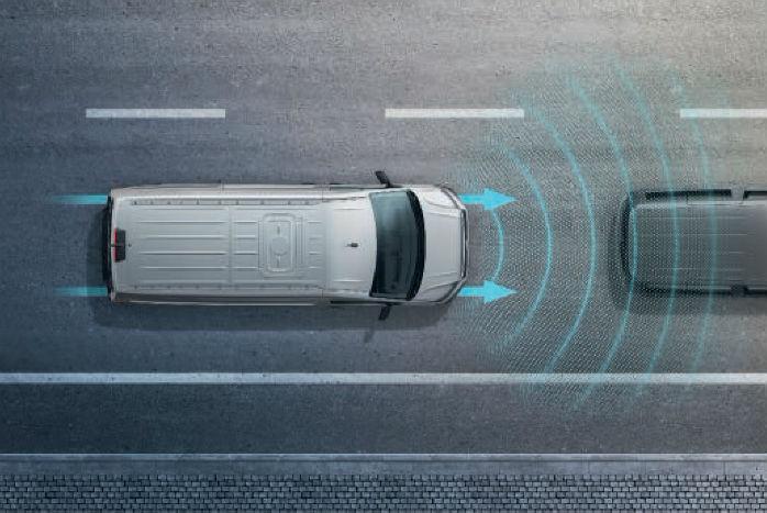 """Nødbremsen, der gøres standard på VW-varebilerne, hedder """"Front Assist med City Emergency Brake"""""""