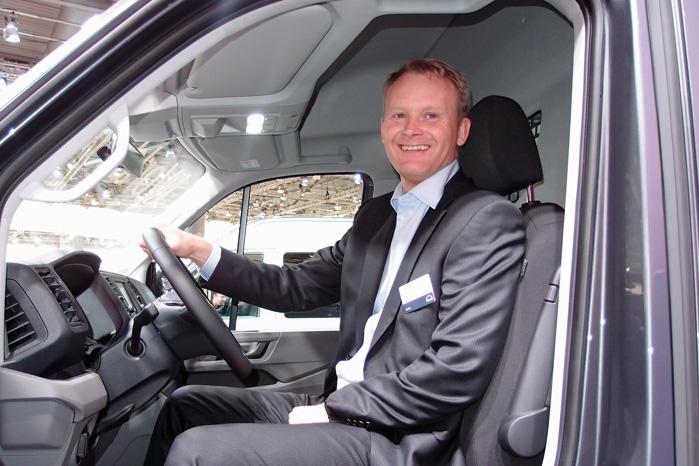 Tænk, hvis vi kan forhindre en MAN TGE i at køre ind i en personbil med en familie i, siger Nicolai Sperling fra MAN i Danmark