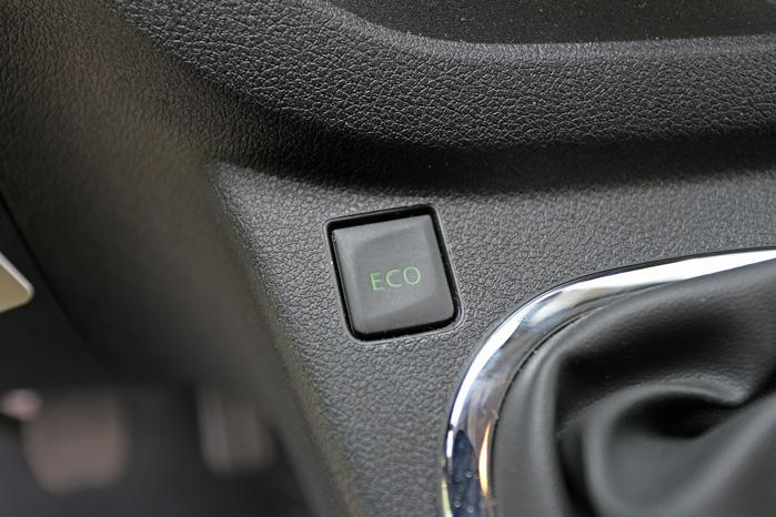 Eco-knappen hjælper dig med at køre lidt grønnere