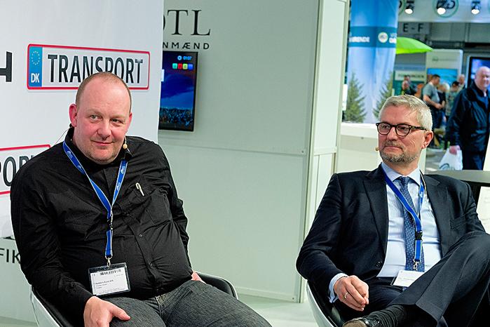 Direktør Erik østergaard og formand for SKV, Thomas Jensen