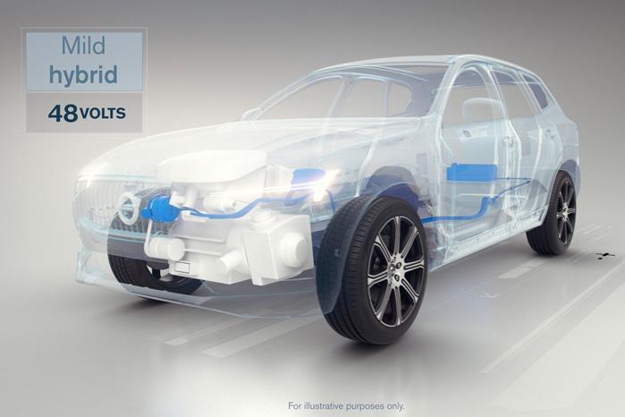 Mild Hybrid kender vi også fra Suzuki og andre producenter, hvor systemet primært tjener som   sparegris af el til komfortystemer