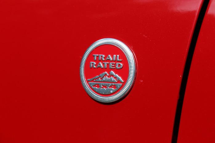 ...og Trail Rated betyder, at den er Jeep-certificeret til at køre uden for civilisationens grænser
