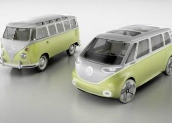 I.D. Buzz har ikke meget teknisk til fælles med T1, men VW vil gerne trække tråde til fortidens amerikanske hippie-camperkultur