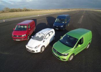 Volkswagen støtter kampagnen med den fulde palet af varevognsmodeller