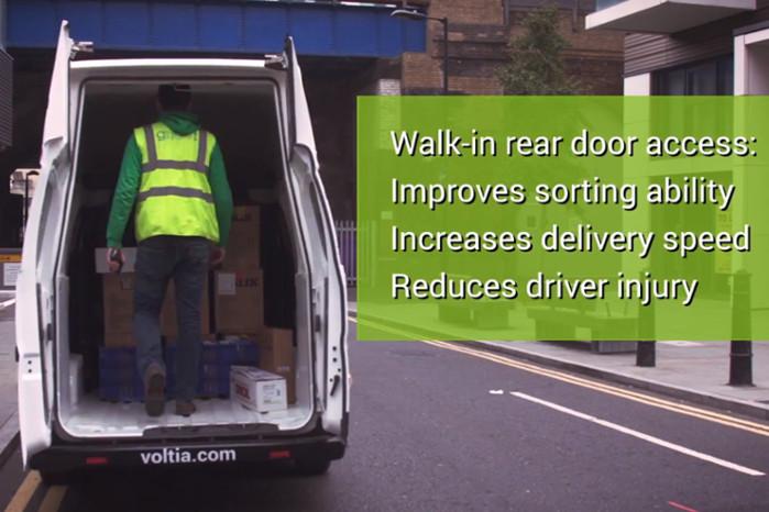 Med en udvendig højde på 250 cm er der almindelig ståhøjde i lastrummet