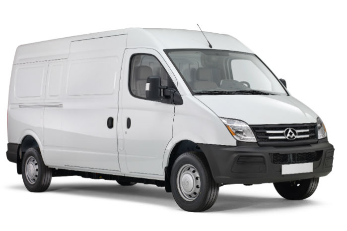 Maxus EV80 har en batterikapacitet på 56 kWh og en angivet rækkevidde på 200 km