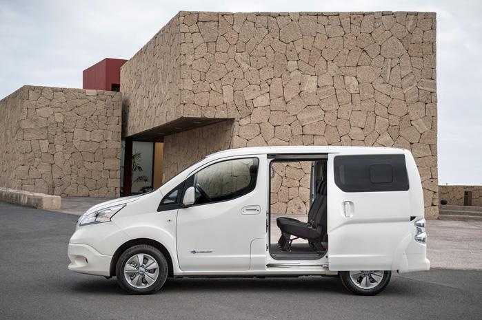 Nissan e-NV200 har en varerumskapacitet på 4,2 kubikmeter med plads til to europaller med en vægt på op til 701 kg