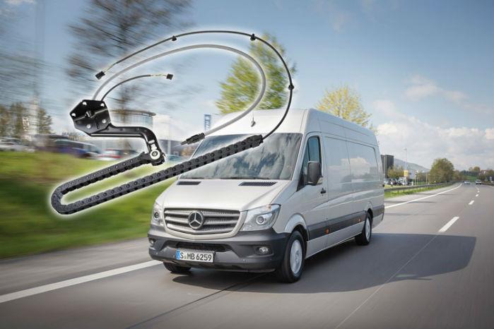 Mercedes-Benz Sprinter er blandt de modeller, der benytter systemet fra KabelTrax