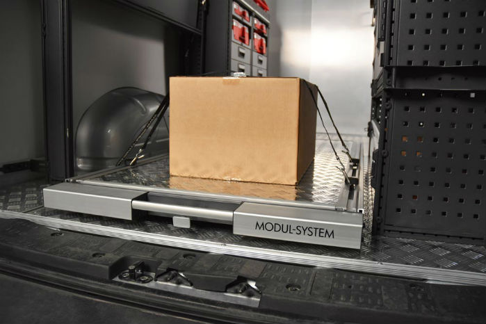 Den forbedrede lastplatform fra Modul-System kan belastes med op til 250 kg