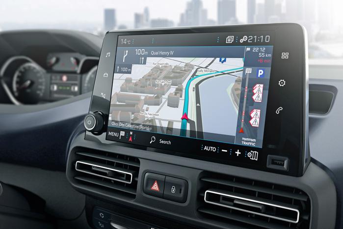 Den fede store touchskærm bliver desværre nok meget sjælden i varebilerne, men man har jo lov at håbe