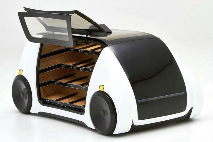 Robomart benytter trådløs opladning fra HEVO