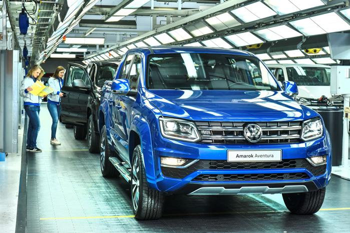 Produktionen foregår på VW's kæmpefabrik i Hannover