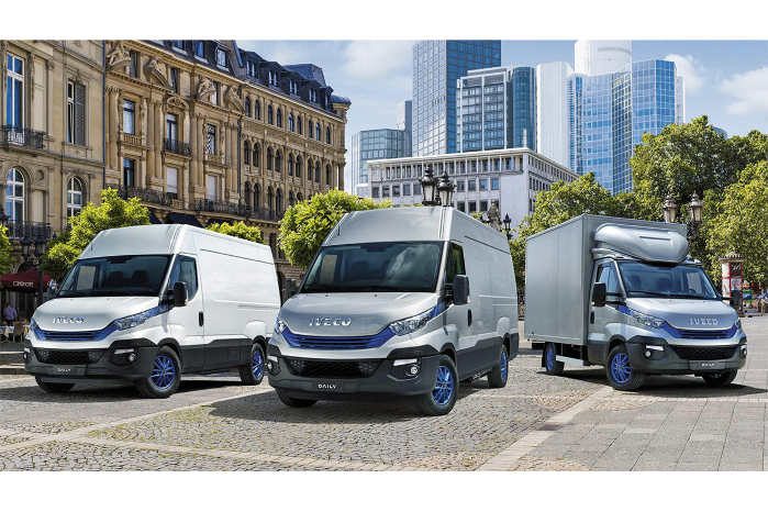 Iveco udnytter udstillingen i Hannover til at vise, at de kan levere køretøjer til gods- og persontransort uden brug af diesel. Foto: Iveco