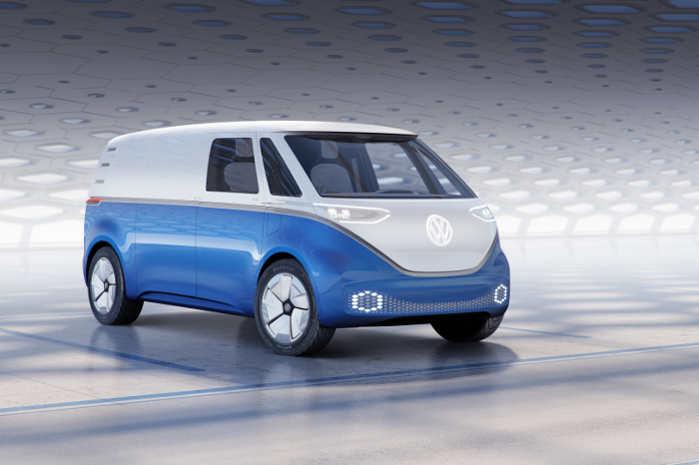 VW I.D. Buzz Cargo har– afhængigt af batteriets størrelse og den pågældende model – en rækkevidde fra ca. 330 til over 550 km (i henhold til WLTP)