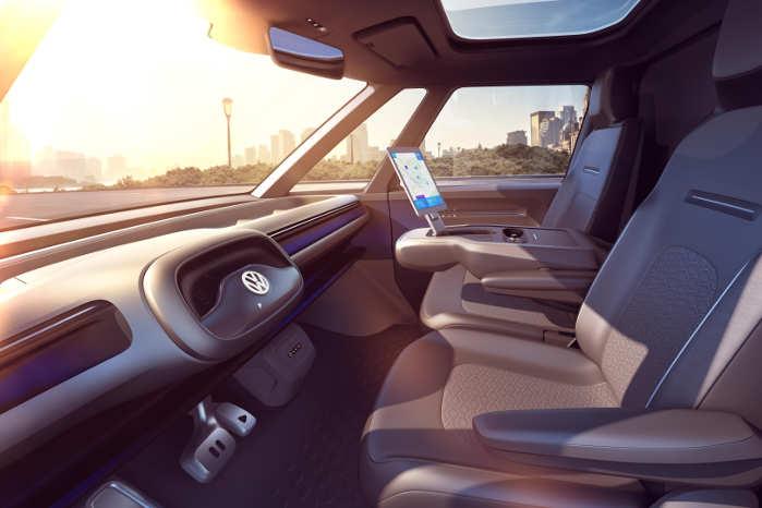 """VW I:D. Buzz Cargo tilbyder bl.a. såkaldt den automatiseret køreindstilling (""""I.D. Pilot"""")"""