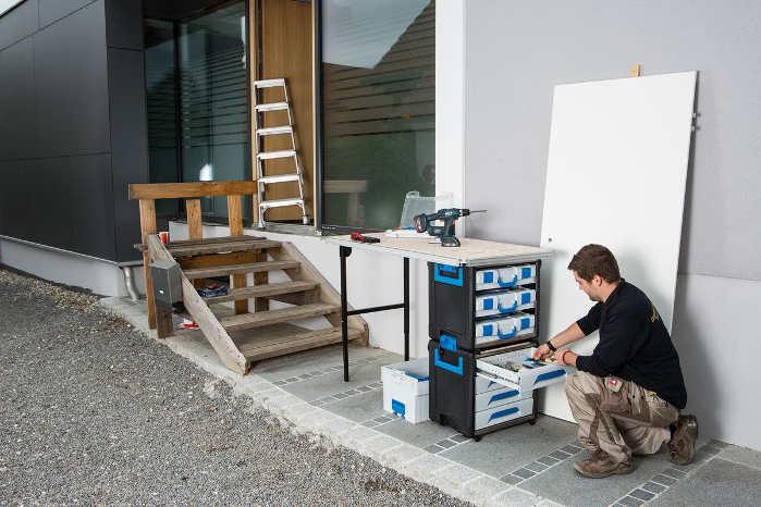 WorkMo kan tjene som både værktøjskasse og arbejdsbænk