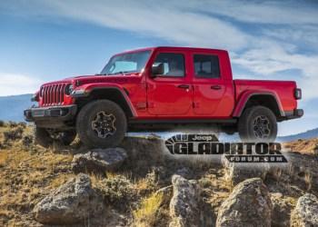 Jeep Gladiator Forum kom først med billederne og har plastret dem til med deres logo - meget forståeligt