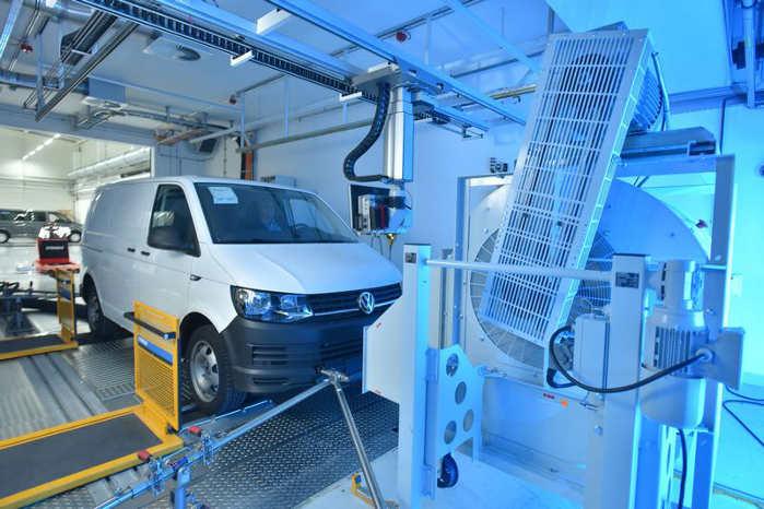 En T6'er i prøvestanden. Foto: VW