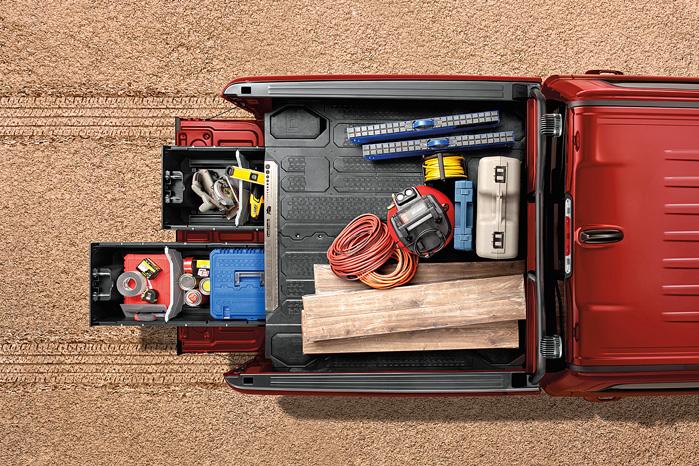Med skuffepakken kan du have matrikler og værktøj gemt i ladet