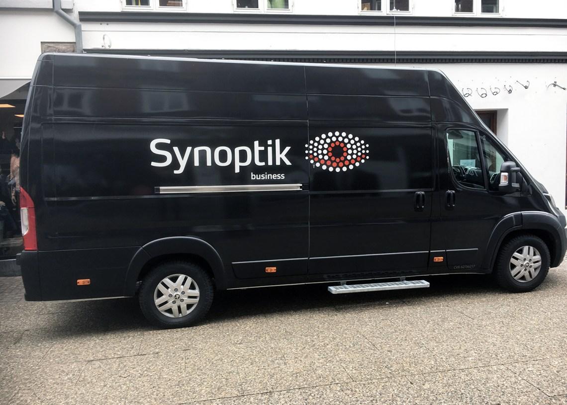 Sortimo har indrettet en brillebutik i lastrummet på en varebil