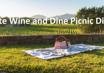White wine and dine picnic dinner