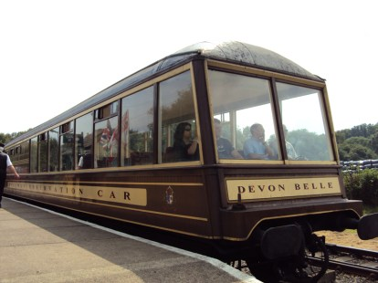 The newly restored Devon Belle Observation Car.
