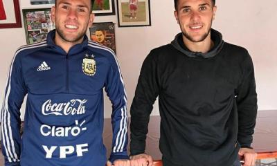 Los hermanos Bustos, Fabricio y Nicolás, entrenaron juntos durante la cuarentena.