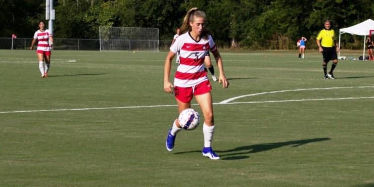 Laila Espamer, en el fútbol universitario estadounidense (fuente: Martin Methodist College)