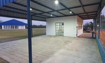 Atlético San Basilio realiza tareas de mantenimiento en sus instalaciones.