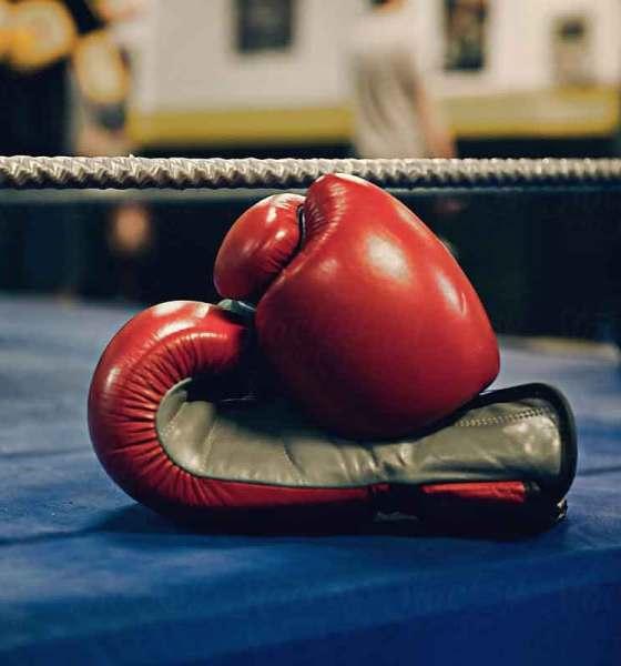 Fotografía de guantes de boxeo