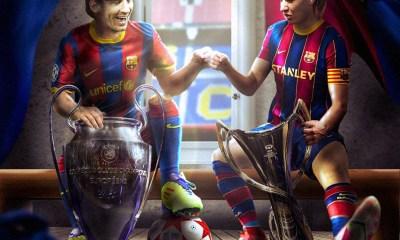"""El conjunto """"culé"""" se convirtió para siempre en el primer club del mundo en ser campeón de la Champions femenina y masculina."""