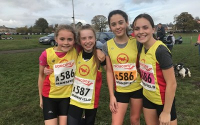 U13 Girls National XC Relay Team Finish 28th